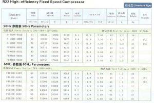 HITACHI Scroll High-efficiency Fixed speed compressor-R22