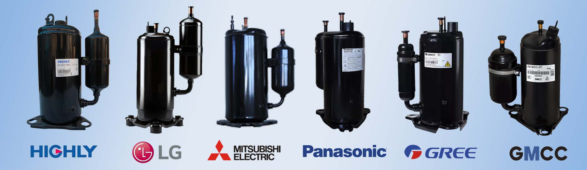 LG-GMCC-Panasonic-GREE-Landa-HIGHLY-Hitachi-BOYANG-BOYARD-Mitsubishi-Rotary-Compressor