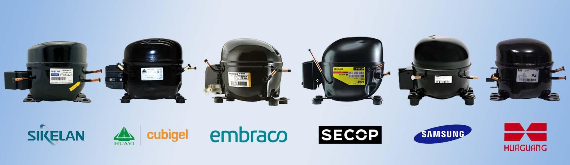 SECOP-Huaguang-KONOR-SIKELAN-Embraco-Samsung-wanbao-HUAYI-Cubigel-Refrigerator-Compressor