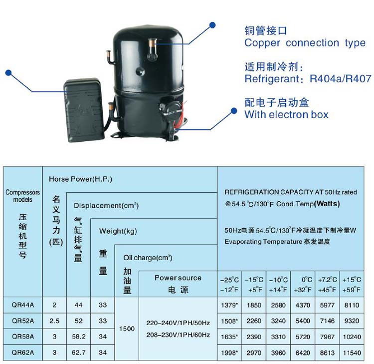 ANKANG XINGFA compressor copper connection type-R04a-407C-1PH