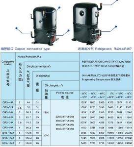 ANKANG XINGFA compressor copper connection type-R04a-407C-3PH