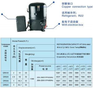 ANKANG XINGFA compressor copper connection type-R22-1PH
