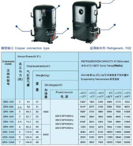 ANKANG XINGFA compressor copper connection type-R22-3PH