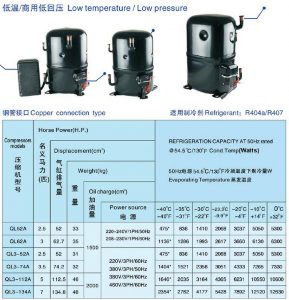 ANKANG XINGFA compressor copper connection type-R404A-R407C-3PH-low temperature