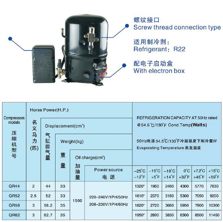 ANKANG XINGFA compressor screw thread connection type-R22-1PH