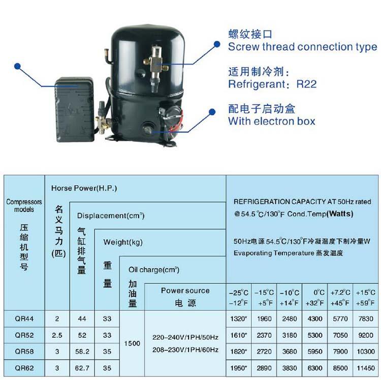 ANKANG XINGFA compressor screw thread connection type-R22-1PH
