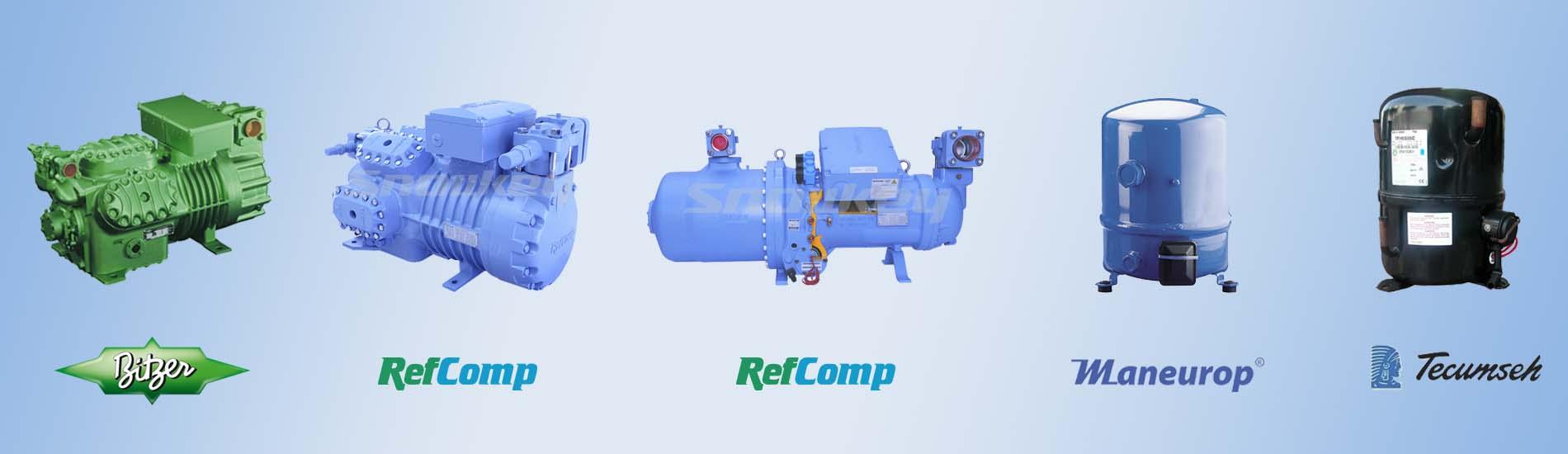 BITZER-Refcomp-TECUMSEH-Maneurop-XINGFA-ANKANG-Reciprocating-Hermetic-Screw-Compressor