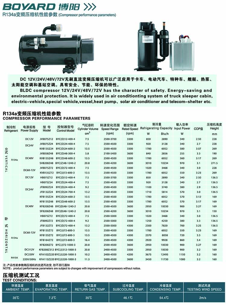 BOYANG BOYARD Rotary Compressor-DC