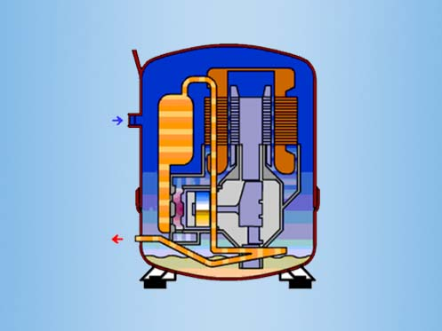 HVAC Reciprocating Compressor 497-373